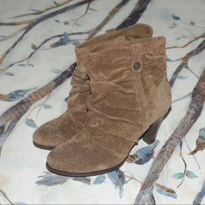 new without box BCBG Paris sueded ankle boots